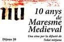 """10 anys del blog """"Maresme Medieval"""". Una eina per a la difusió de l'edat mitjana"""