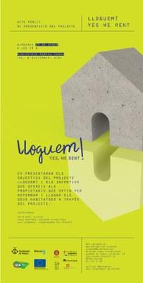 Acte Públic de presentació del projecte: LLOGUEM! YES...