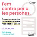 [ACTE AJORNAT] Presentació de les noves mesures de mobilitat al Centre