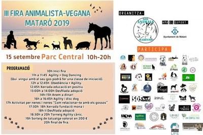 III Fira Animalista-Vegana. Mataró 2019