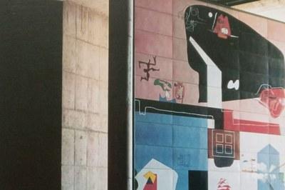 Pintura de Le Corbusier. Porta esmaltada del Parlament ...