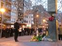 L'alcalde presideix l'ofrena floral amb motiu del Dia Oficial de la memòria de l'holocaust