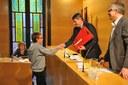 L'alcalde lliura els premis de la 33a edició del Concurs literari Memorial Joaquim Casas