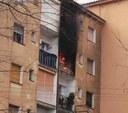 Una víctima mortal i cinc ferits en un incendi a l'avinguda d'Amèrica de Mataró