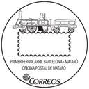 CORREOS estrena un mata-segells turístic dedicat al primer Ferrocarril Barcelona-Mataró
