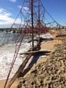 La calamarsada provoca incidències a Mataró i el temporal marítim s'endú bona part de la sorra de la platja