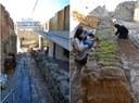 PUMSA restaura el mur de contenció del pas de ronda de la muralla a l'edifici Espenyes