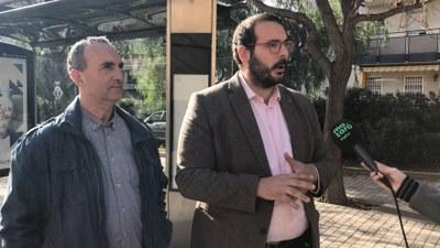L'alcalde, David Bote, i el regidor de Mobilitat, Juan Carlos Jerez. Foto: Ajuntament