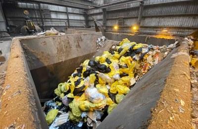 Residus sanitaris arribats a Mataró. Foto:Marga Cruz/CTRSUM