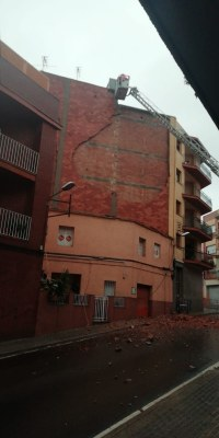 Caiguda d'envà al passatge del Miró. Foto: Policia Local