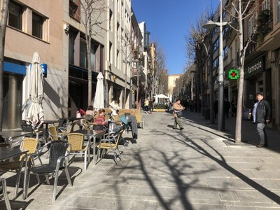 La Riera, aquest migdia. Foto: Ajuntament