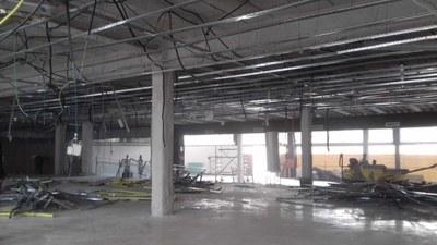 Estat de les obres de l'Espai Mataró. Foto: Ajuntament