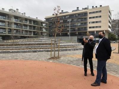 L'alcalde, David Bote, i el director de Pumsa, Jordi Humet, durant la visita