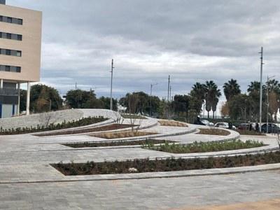 Detall de la nova plaça. Foto: Ajuntament