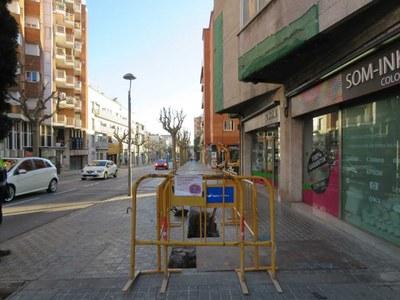 Obres al carrer de Jaume Isern. Foto: AMSA