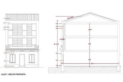 Proposta façana amb 3 plantes