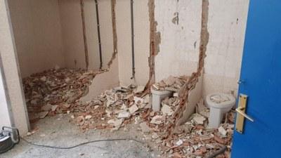 Obres als lavabos del Palau Josep Mora. Foto: Ajuntament