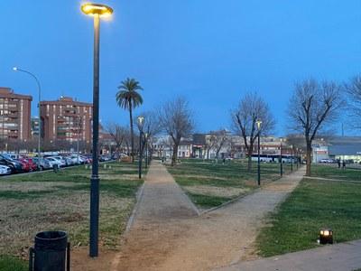 Nou enllumenat al Parc de la Pollancreda. Foto: JV