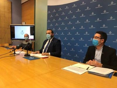 D'esquerra a dreta, Juan Carlos Jerez, David Bote i Sergi Morales. Foto: Ajuntament