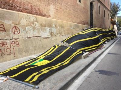 Tanca caiguda davant de la Presó. Foto: Ajuntament