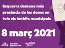 Esquerra demana més presència de les dones en tots els àmbits municipals