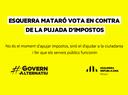 Esquerra Mataró vota en contra de la pujada d'impostos