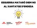 Esquerra Republicana de Mataró diu NO al xantatge d'Endesa