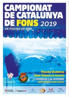 Campionat de Catalunya de Fons 2019.  En piscina de 50m