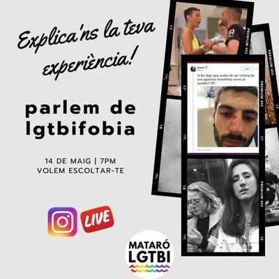 """Live d'Instagram: """"Diem no a la LGTBIfòbia"""""""